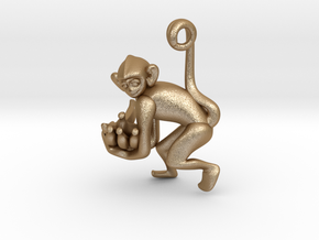 3D-Monkeys 235 in Matte Gold Steel