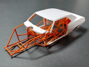 Camaro Pro Stock Chassis 1/24 Model Car  in Orange Strong & Flexible Polished