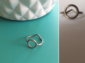 Two sides Ring Size M / 6 (Medium) in Stainless Steel