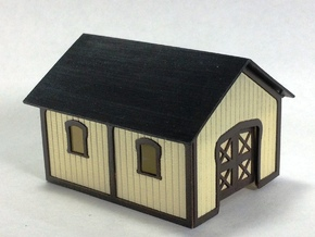 PRR Plan 57984-B TOOL SHED Kit in N Scale in Frosted Ultra Detail