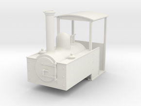 Gn15 Decauville style steam loco in White Strong & Flexible