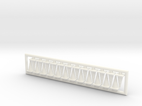 Traffic Cones 01. HO Scale (1:87) in White Strong & Flexible Polished