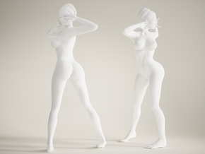 Long Leg Lady scale 1/10  003 in White Strong & Flexible Polished