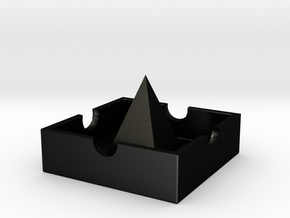 Castle ashtray in Matte Black Steel