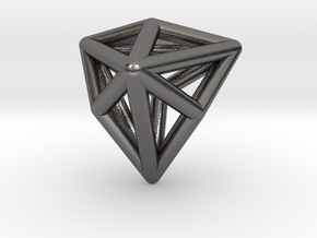0337 Triakis Tetrahedron E (a=1cm) #001 in Polished Nickel Steel