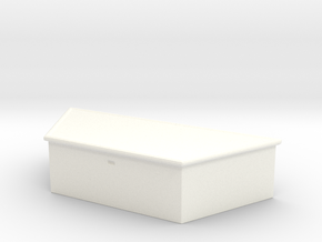 Maisto and Ertl Flatbed Trailer Tongue Box in White Strong & Flexible Polished