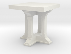 1:24 Side Table in White Strong & Flexible