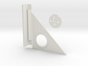 Triangle and compass With Leveler in White Strong & Flexible