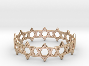 David Bracelet 78 in 14k Rose Gold Plated
