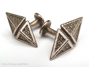 Zendikar Hedron Cufflinks in Stainless Steel