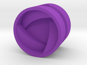 SHIELD_1814RS_RIGHT - LEGO-compatible Custom Rims in Purple Strong & Flexible Polished