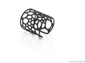Voronoi Bracelet (LARGE) in Black Strong & Flexible