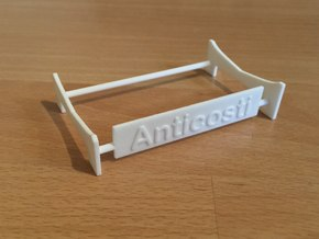 Anticosti, Display Stand (1:200) in White Strong & Flexible Polished