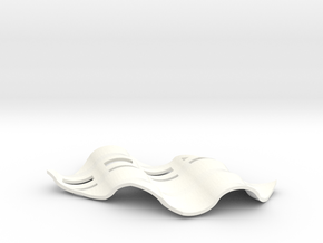 Soap Dish Zwei in White Strong & Flexible Polished