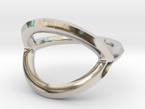Arched Eye Ring Size 12.5 in Platinum