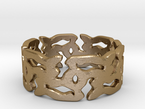 MCG Ring B in Polished Gold Steel