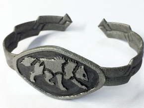 "2.5"" Wolf Bracelet in White Strong & Flexible"