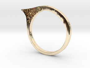 Modern ring US size 8 in 14K Gold