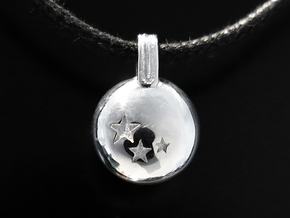 Stars in Rhodium Plated