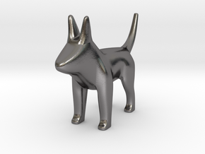 Henry the puppy in Polished Nickel Steel