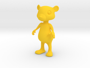 Tiny Bear in Yellow Strong & Flexible Polished