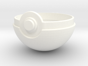 Pokeball Top Half in White Strong & Flexible Polished