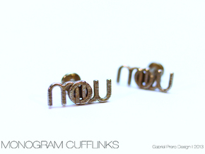 Monogram Cufflinks MWO in Stainless Steel