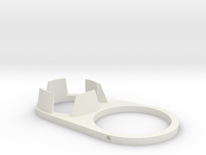 Vacuum Nozzle Support Bracket in White Strong & Flexible
