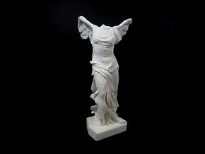 Nike - Winged Victory of Samothrace (c. 190 BC) in White Strong & Flexible Polished