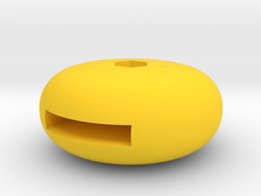 CAC Boomerang Cowl flap Knob in Yellow Strong & Flexible Polished