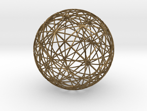 Symmetry Sphere of the Cuboctahedron in Raw Bronze
