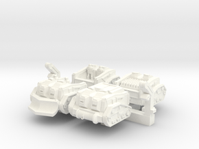'Mule' Ammunition Tractor Set in White Strong & Flexible Polished