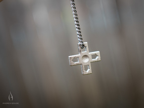 D-Pad Pendant or Keychain in Polished Nickel Steel