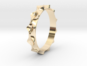 Curve  Pattern Ring- Size 6 in 14K Gold