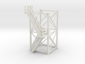 'S Scale' - 10'x10'x20' Tower With Outside Stairs in White Strong & Flexible