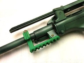 AUG Barrel Stabilizer with Rails in Green Strong & Flexible Polished