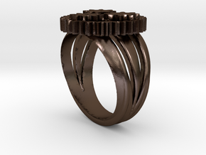 SteamPunk Ring BETA in Polished Bronze Steel