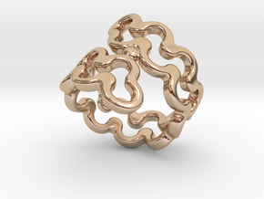 Jagged Ring 15 - Italian Size 15 in 14k Rose Gold Plated