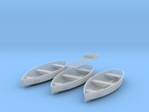 O scale Rowboat Set 3ea 6 Paddles in Frosted Ultra Detail