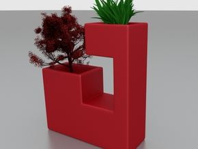 Mini planter 1 in Red Strong & Flexible Polished