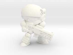 CORPORATION TROOPER (EYES RIGHT) in White Strong & Flexible Polished
