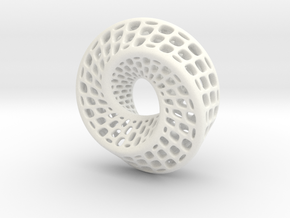 Mobious v2 in White Strong & Flexible Polished