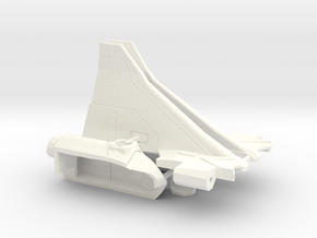 Combat Orbiter Wings and OMS Pods in White Strong & Flexible Polished