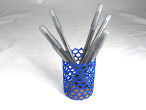 Pencil Holder in Blue Strong & Flexible Polished