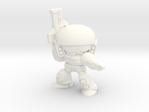 COLONIAL INFANTRY SGT. in White Strong & Flexible Polished