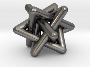 0456 Interwoven Set of Four Triangles (d=1.2 cm) in Polished Nickel Steel
