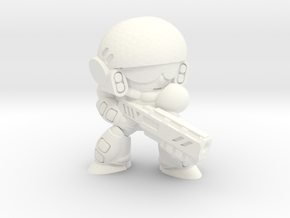 COLONIAL INFANTRY - SHOTGUN - EYES LEFT in White Strong & Flexible Polished
