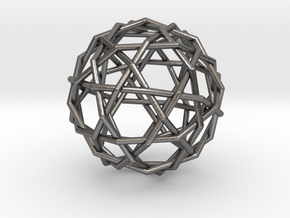 0461 Woven Truncated Icosahedron (U25) in Polished Nickel Steel