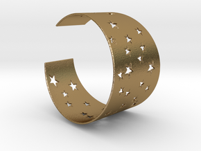 Starry Night Bracelet Ø58 mm/Ø2.283 inch S in Polished Gold Steel