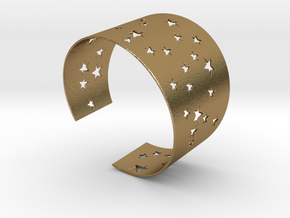Starry Night Bracelet Ø68 mm L/2.677 inch in Polished Gold Steel